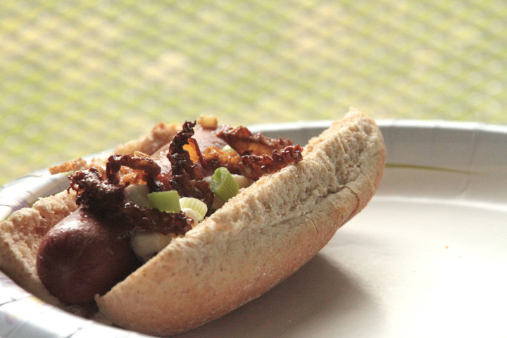 Morel & Goat Cheese Hot Dogs