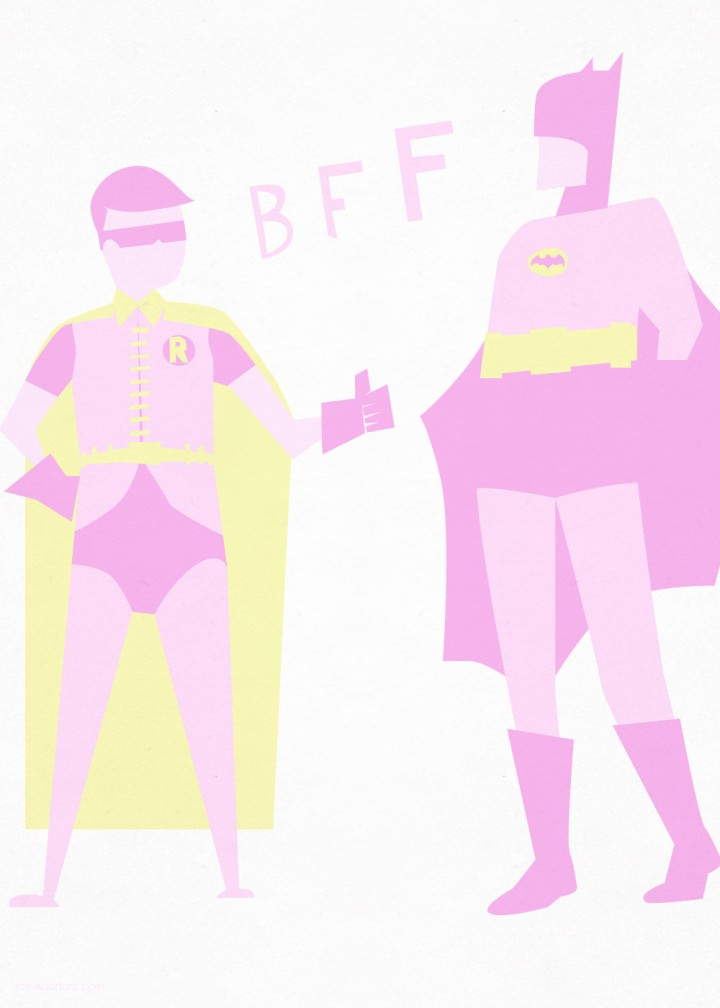 Batman & Robin valentine illustration download
