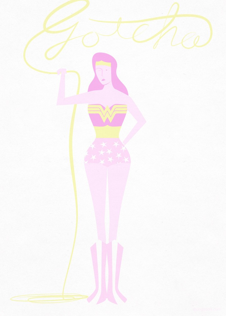 Wonder Woman valentine illustration