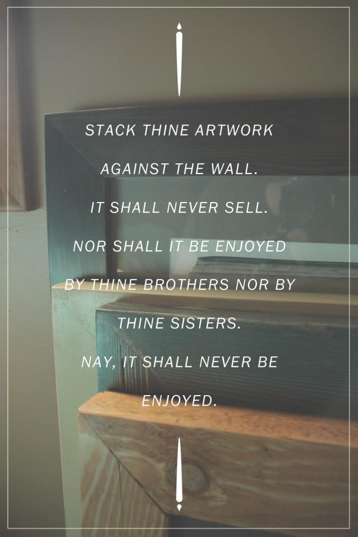 Artist Proverb