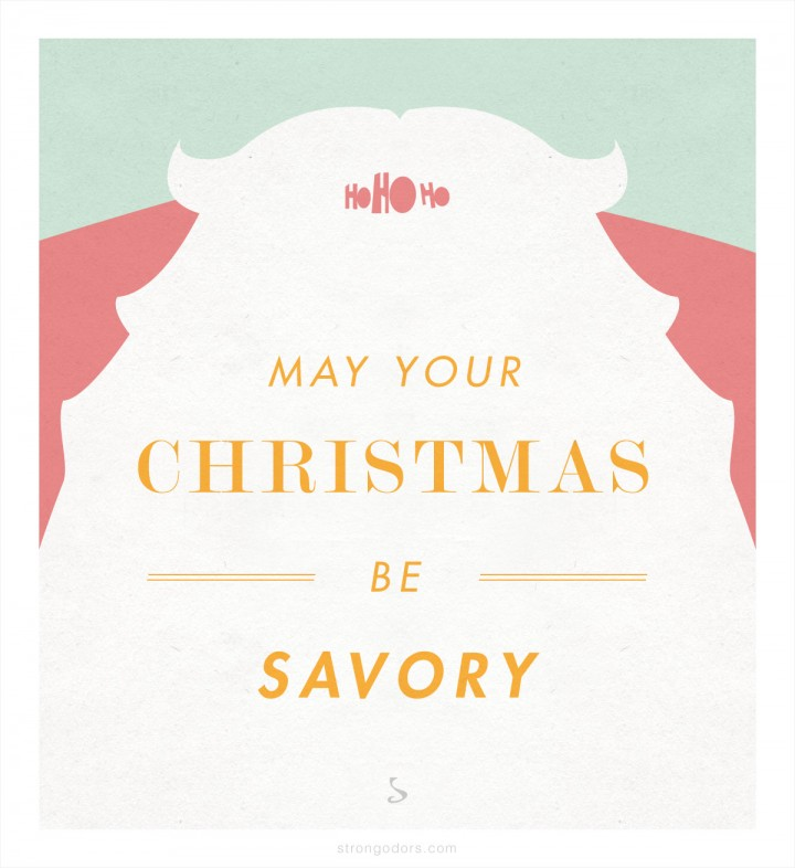 Savory Christmas Santa Holiday Greeting