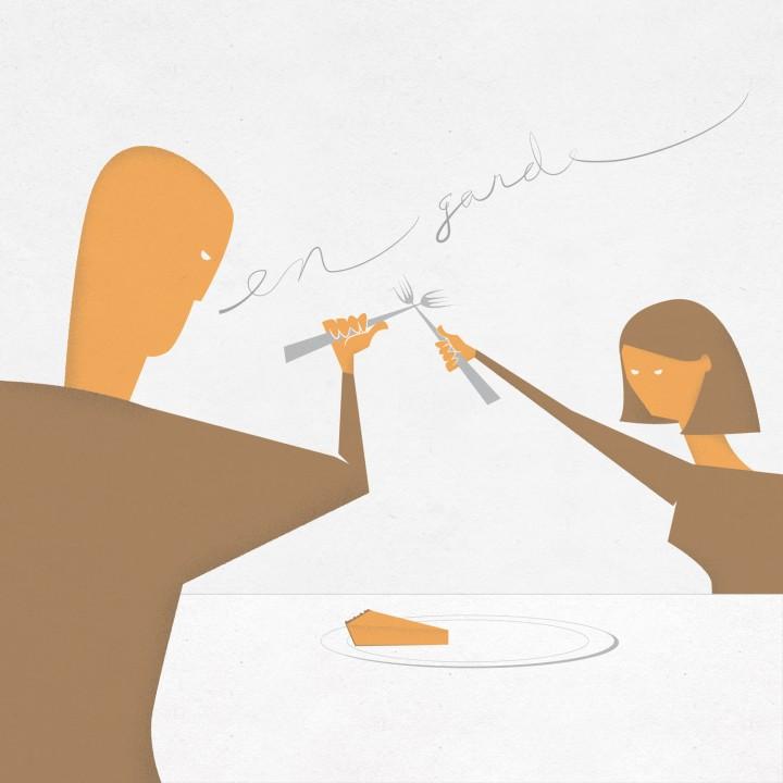 en garde - Thanksgiving pumpkin pie illustration