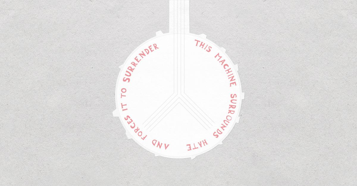 Pete Seeger's Banjo Lettering