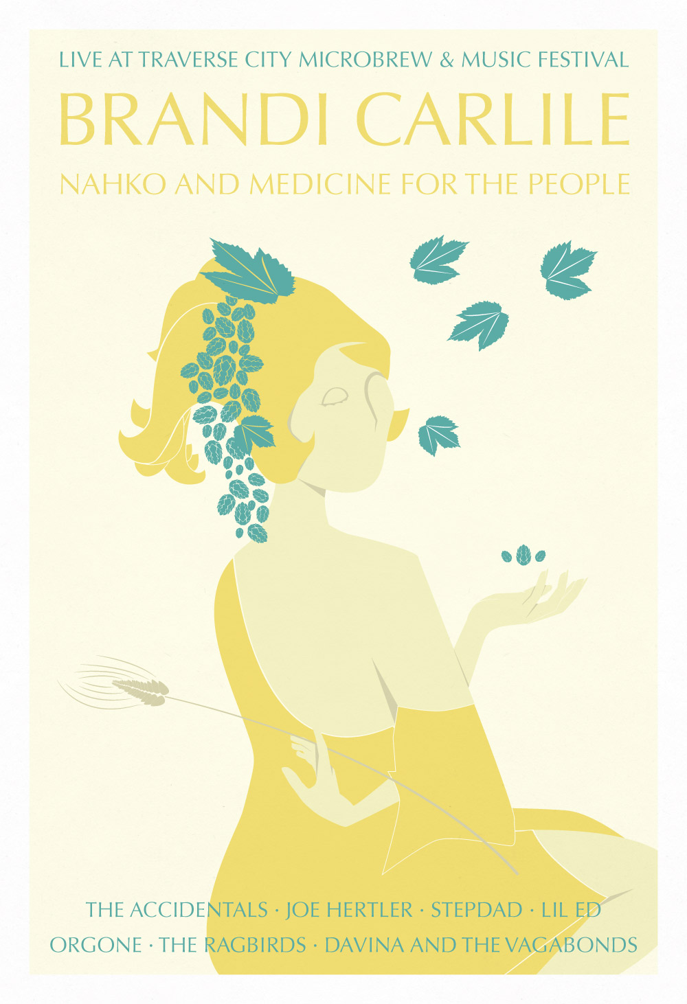 Brandi Carlile Gig Poster