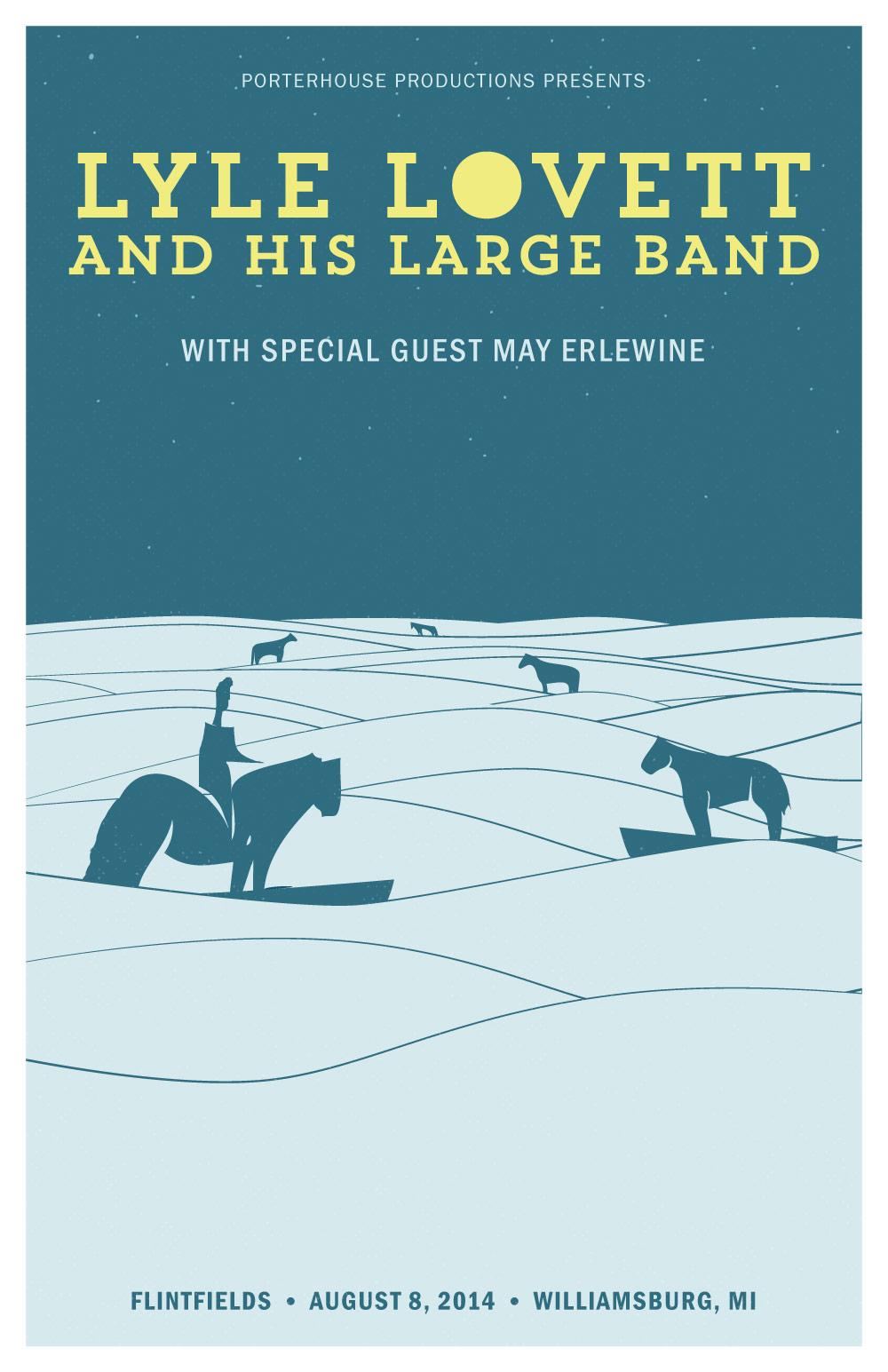 Lyle Lovett Gig Poster
