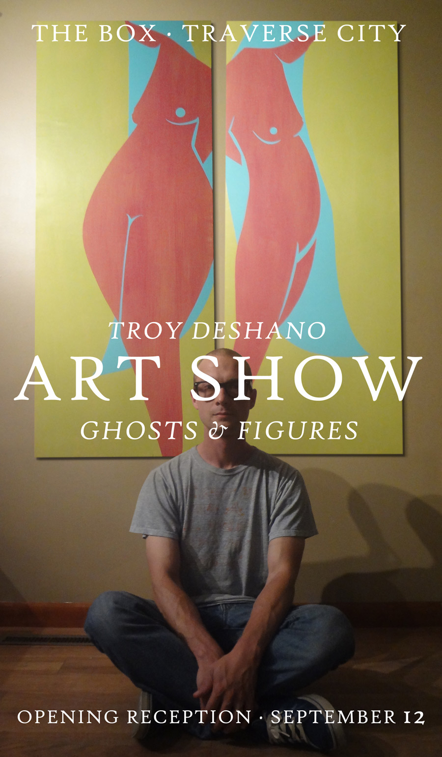 Troy DeShano Ghosts and Figures Art Show