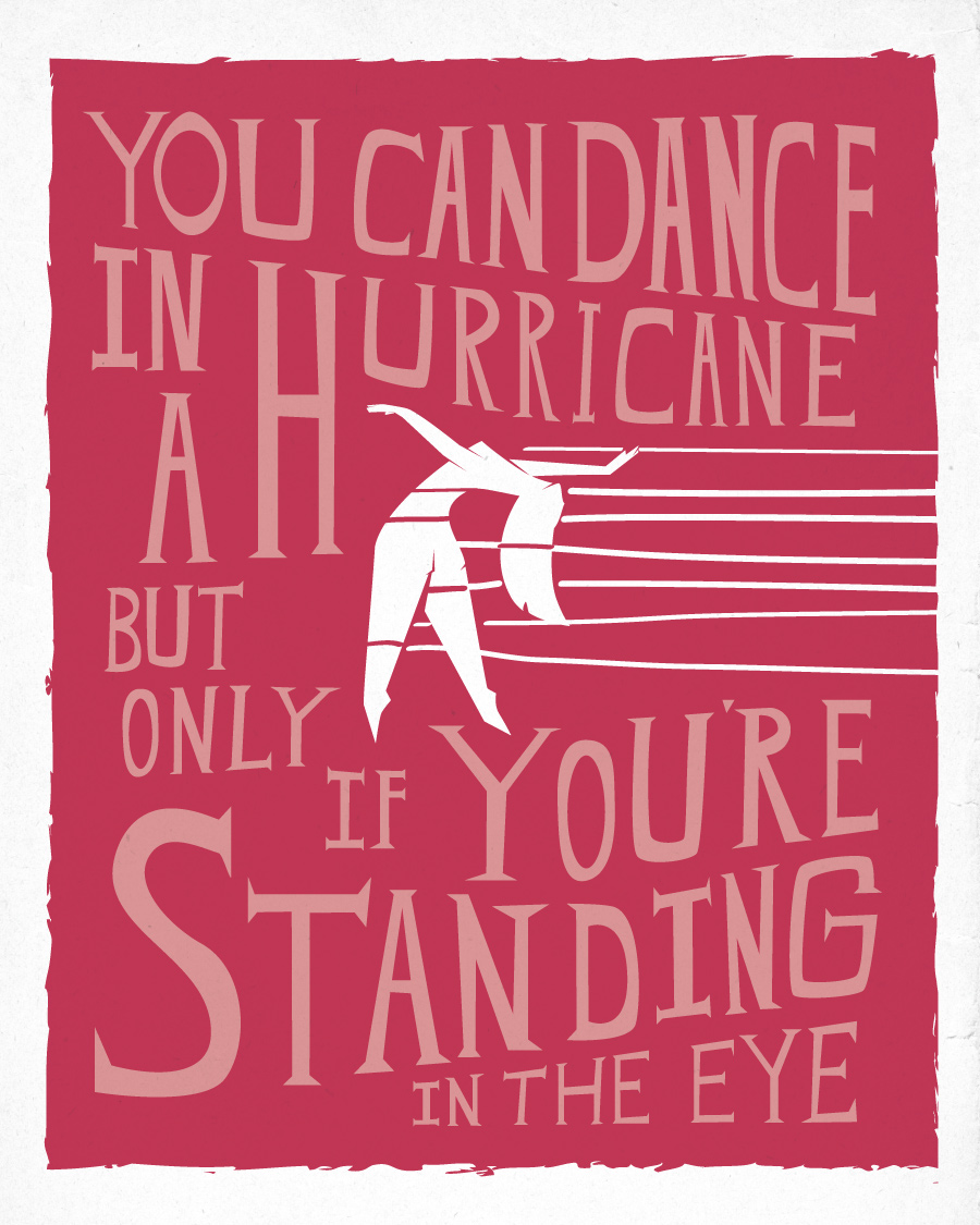 Brandi Carlile Dance in a Hurricane - The Eye Poster